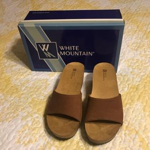 NEW White Mountain Leather Sandals-8M